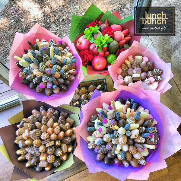 Lunch Bunch Edible Bouquets Chocolate Strawberries Same Day Adelaide