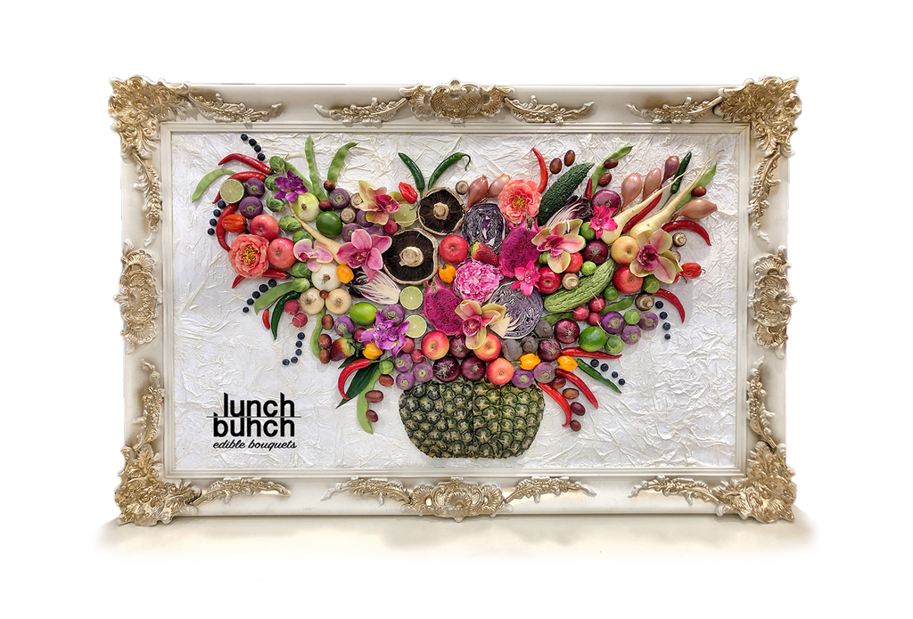 Framed Art Work Lunch Bunch edible bouquets edible wall