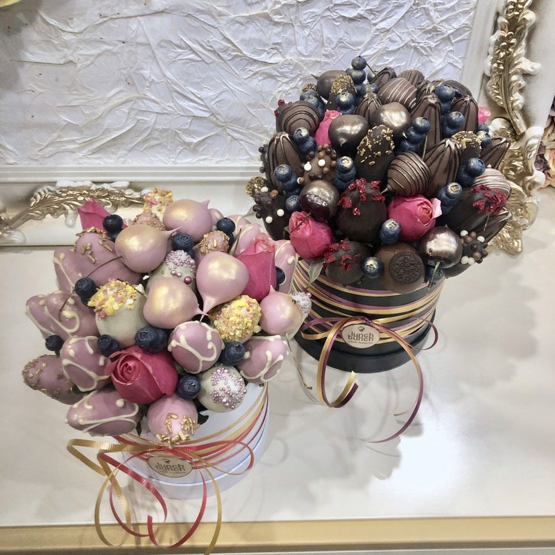 """Allure"" Chocolate Blooms in Edible Bouquet, Dessert gift Adelaide delivery"