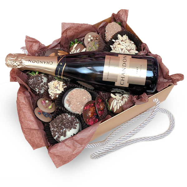 Chandon, ChocoBerries, Mendiants & Donuts Gold Box - GOLD