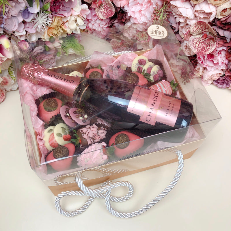 Chandon, ChocoBerries, Mendiants & Donuts Gold Box