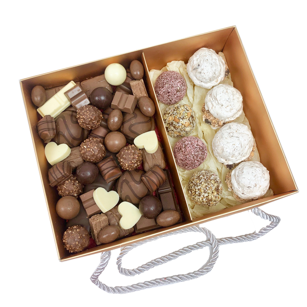 Chocolates Assortment, Protein Balls & Meringues Gold Box