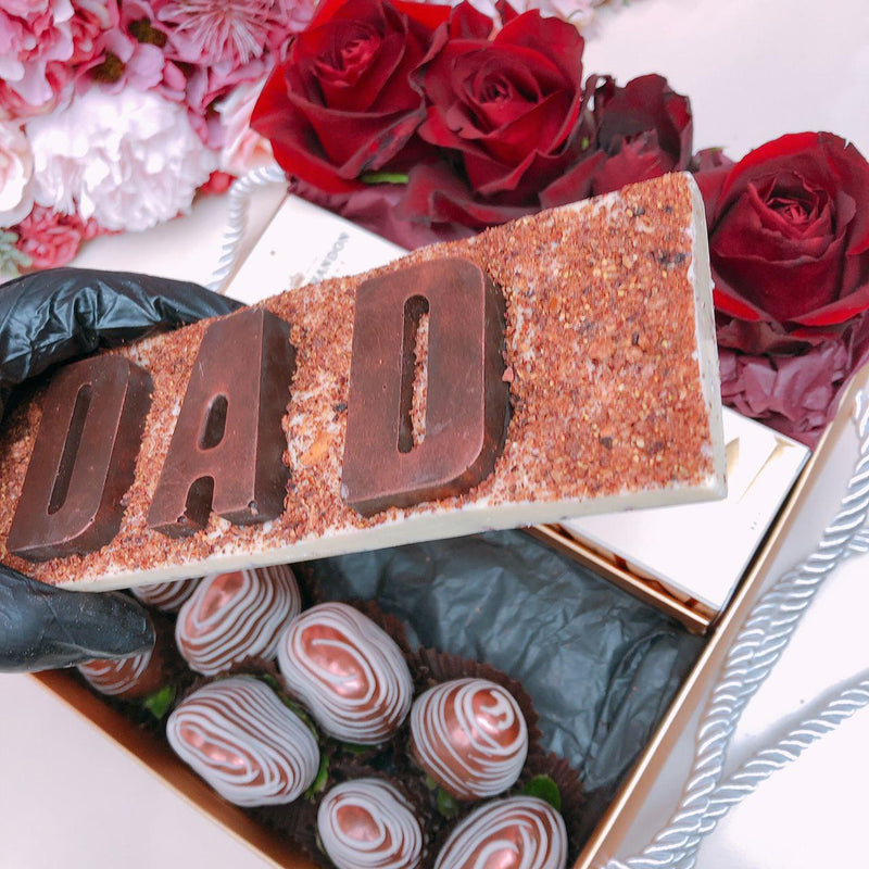 """DAD"" Personalised Chocolate Letters Gift Box"