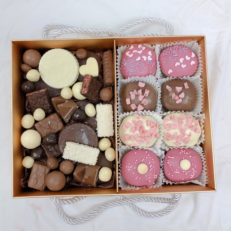 Donuts & Chocolate Assortment Dessert Gold box