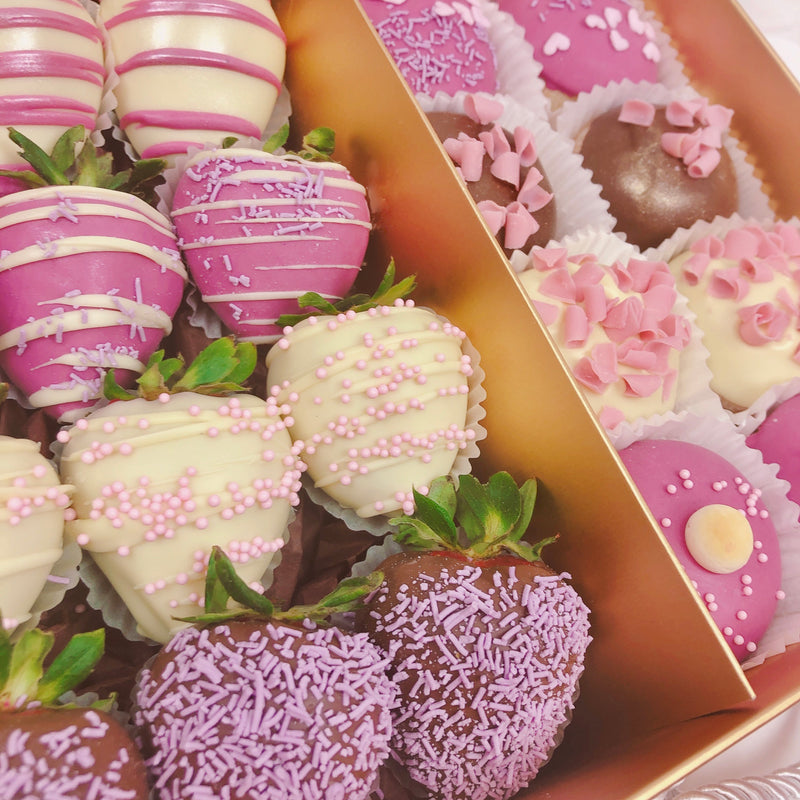 Donuts & Chocolate Strawberries Duet Gold Box