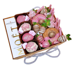 Donuts, Zeppoles, Moet, Meringues & Chocolate Strawberries Gold Box