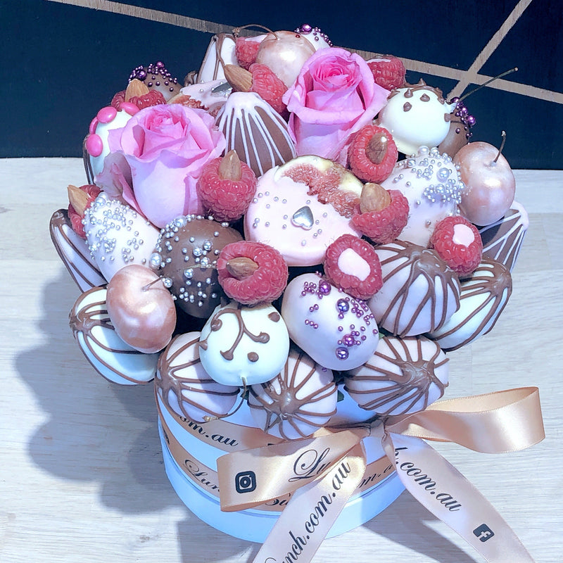 """Allure"" Chocolate Blooms in Edible Bouquet, Dessert gift Adelaide delivery, Chocolate Unicorns"