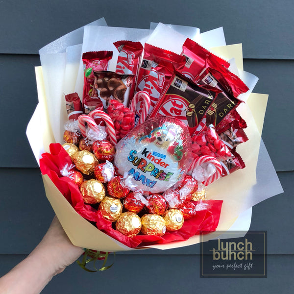 """Red Flames"" Kit Kat Chocolate Bouquet"