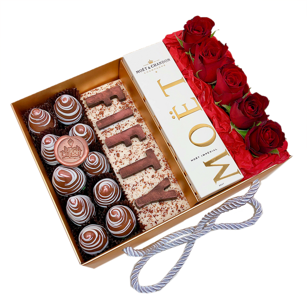 """FIFTY"" Personalised Chocolate Letters Gift Box"
