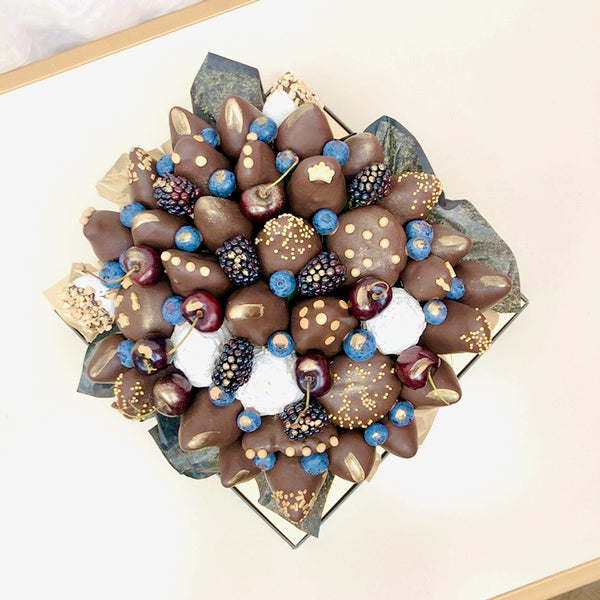 Deluxe Chocolate Strawberries and Donuts Bouquet