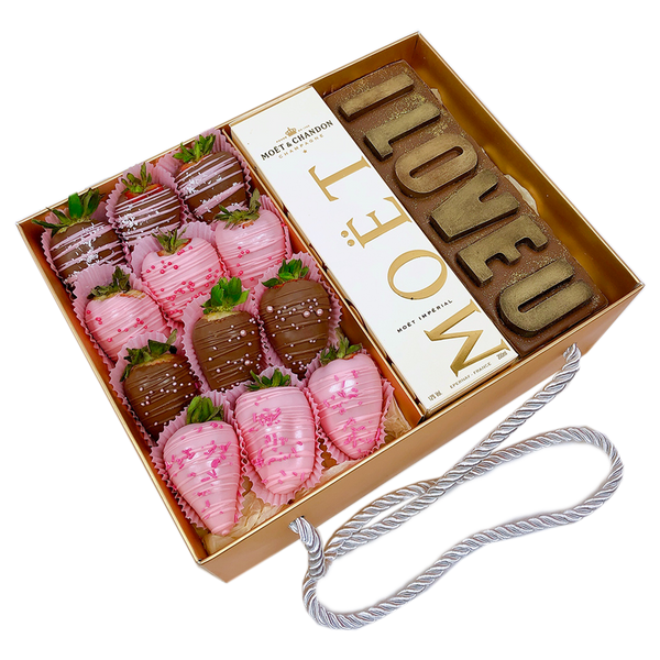 """I LOVE YOU"" Personalised Chocolate Letters Gift Box"