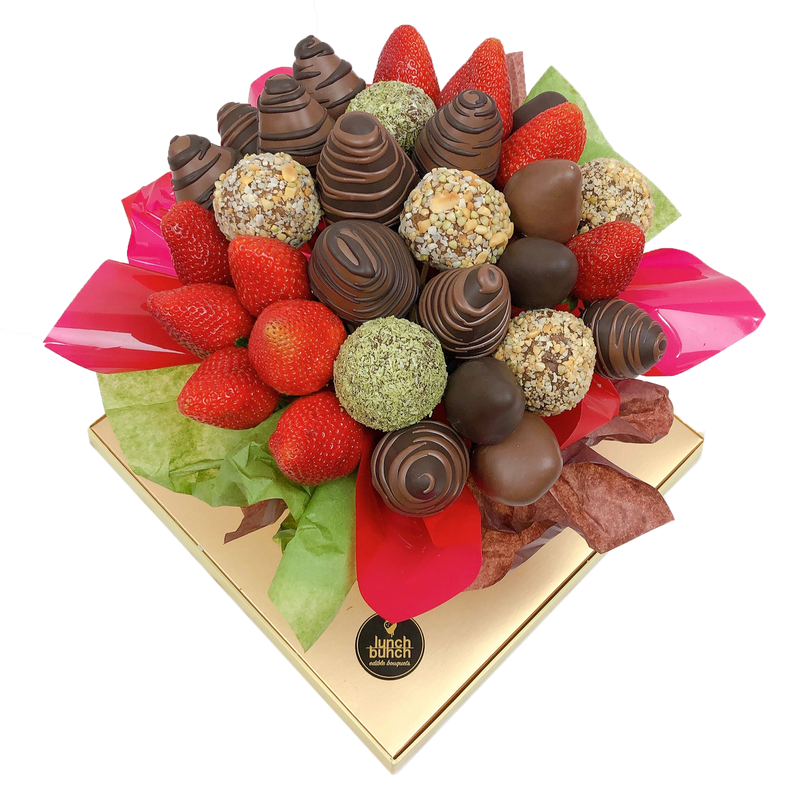 Impulse Protein Balls & Strawberries Bouquet