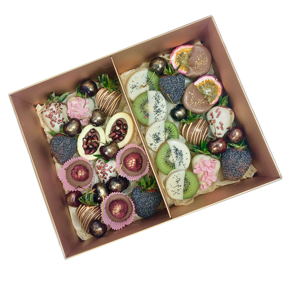 Mixed Fruits & Berries Gold Gift Box