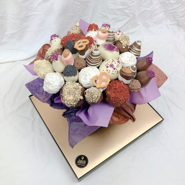 Meringues, Strawberries & Donut Bouquet