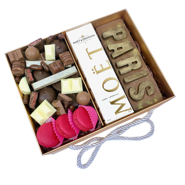 """PARIS"" Personalised Chocolate Letters Gift Box"