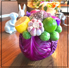 Edible Arrangement in a Red Cabbage Vase