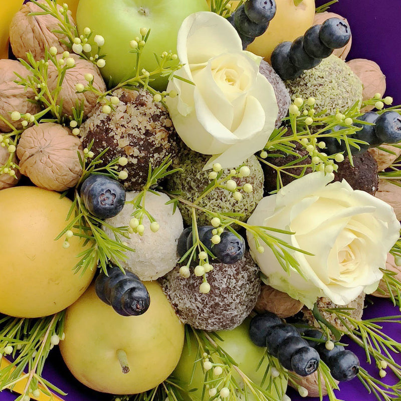 Vegan Friendly Protein Balls, Fruits & Berries Bouquet