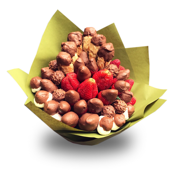 Almond Ergolavi & Chocolate Strawberries Bouquet