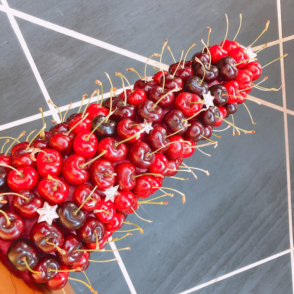 cherry tower edible tower arrangement adelaide hills cherries