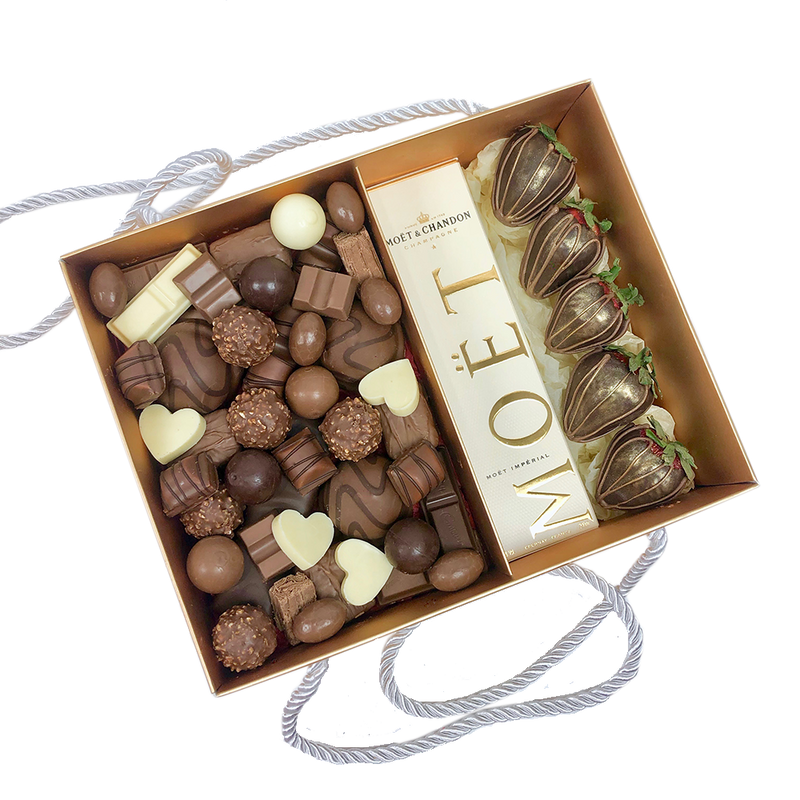 chocolates fusion gold box moet champagne