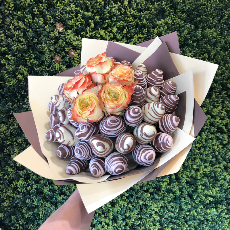 Roseberry Posie Chocolate Blooms Edible Bouquet