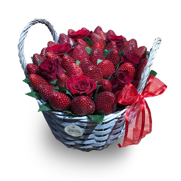 Fresh Strawberry Gift Basket