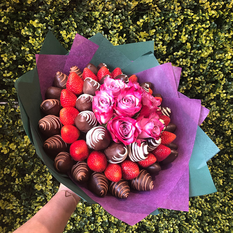 Roseberry Posie Chocolate Blooms Sweet Bouquet