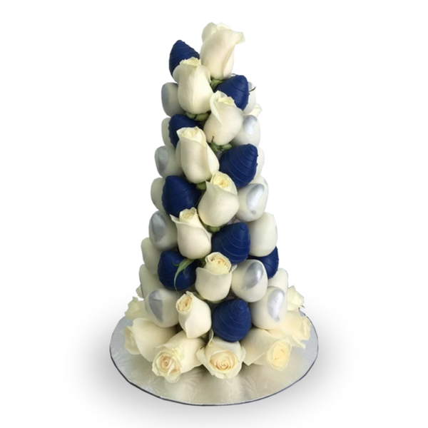 White&Blue Strawberry Tower