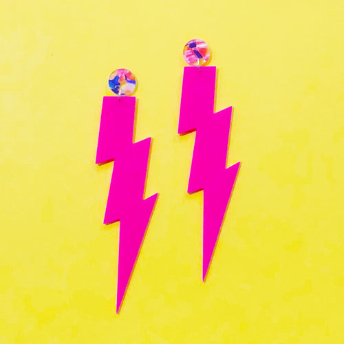 Neon Bolts - pink