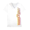 Distressed Logo White Tee