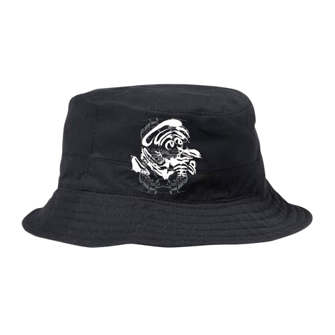 Mixed Up Black Bucket Hat