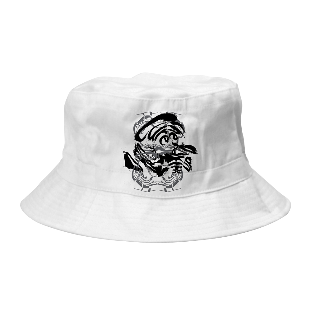 34f7f57affd Mixed Up White Bucket Hat – The Cure Official Store