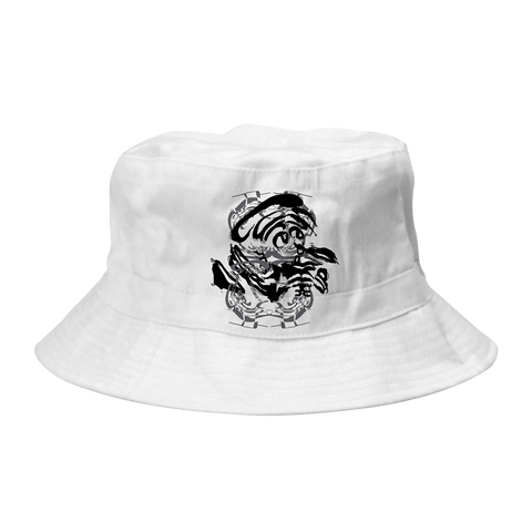 Mixed Up White Bucket Hat