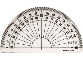 Plastic Protractor 180 Degrees – Each