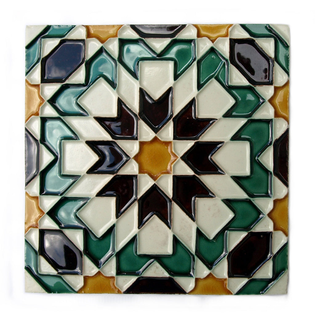 Portuguese Geometric Hispano-Arabe Replica Tiles T13a
