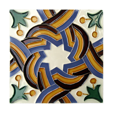 Portuguese Geometric Hispano-Arabe Replica Tiles T32