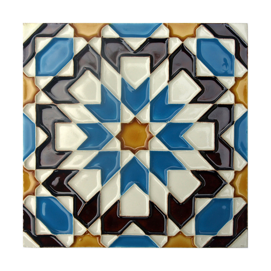 Portuguese Geometric Hispano-Arabe Replica Tiles T13