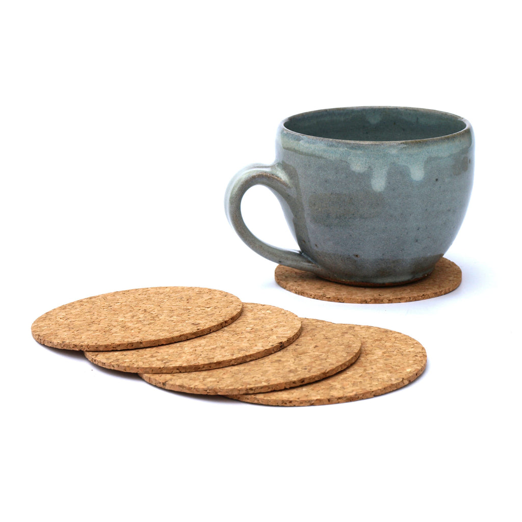 Round Cork Coasters - Pack of 6