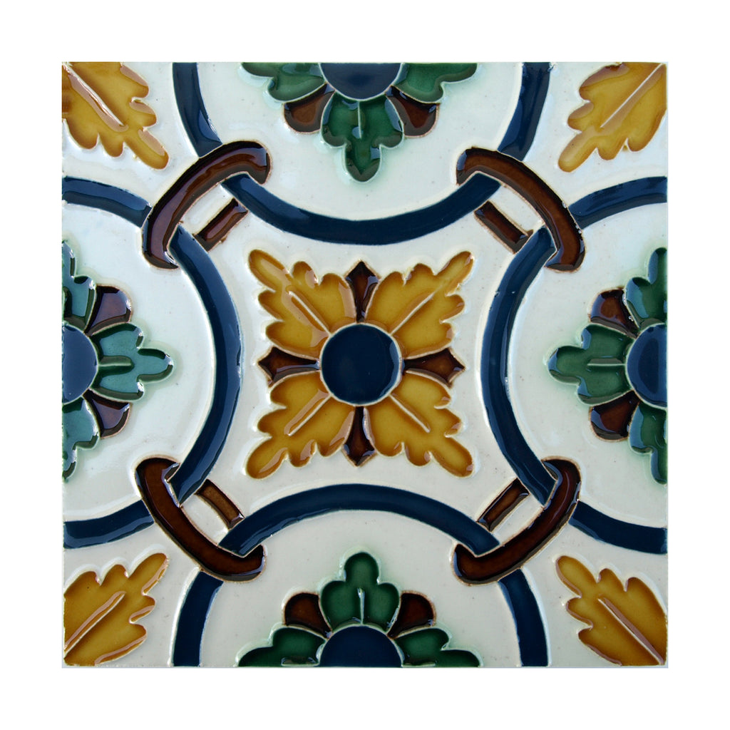 Handmade Hispano Arabic Relief Tiles SN3