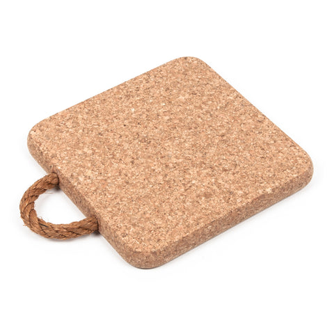 Square Cork Hot Pot Pan Stands Pads Trivets with Rope Handle
