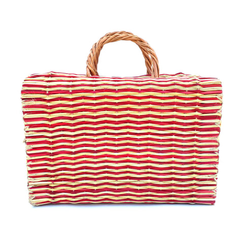 Natural Straw Reed Basket Bag 29