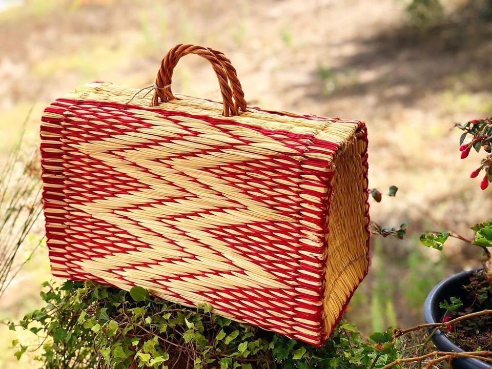 Natural Straw Reed Basket Bag 12