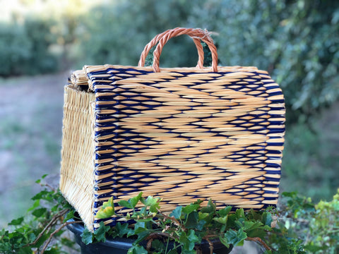 Natural Straw Reed Basket Bag 26