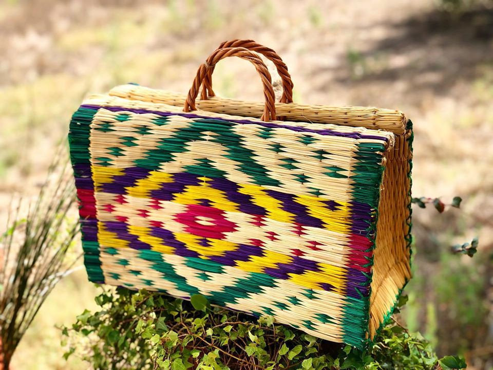 Natural Straw Reed Basket Bag 4