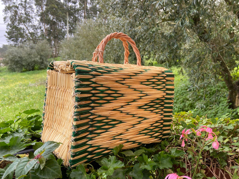Natural Straw Reed Basket Bag 28