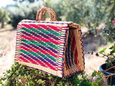 Natural Straw Reed Basket Bag 10