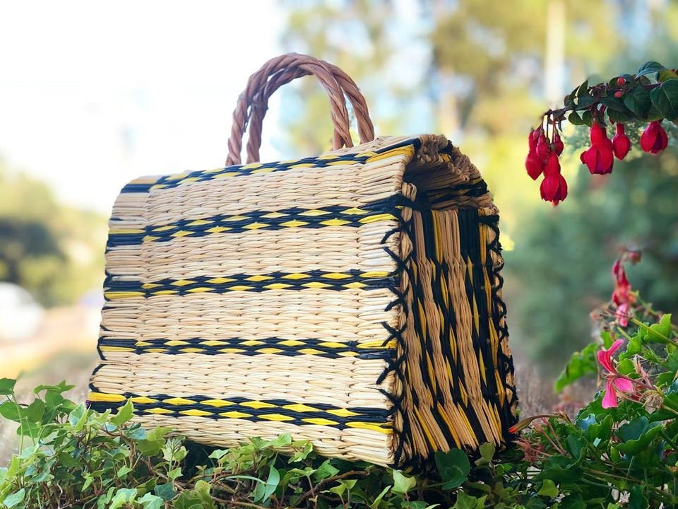 Natural Straw Reed Basket Bag 1
