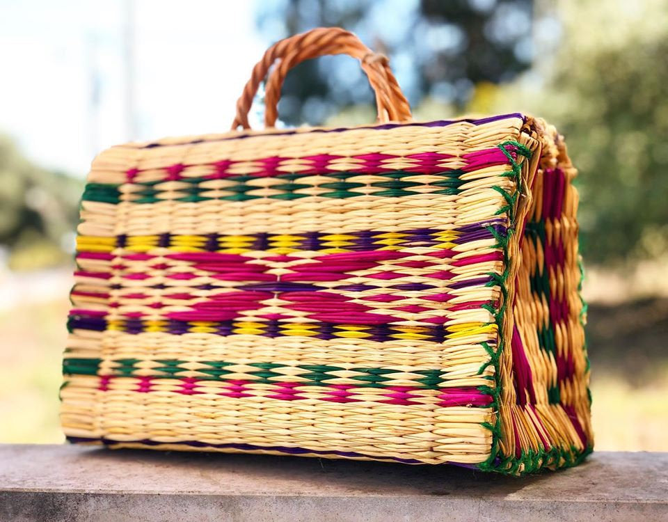 Natural Straw Reed Basket Bag 3