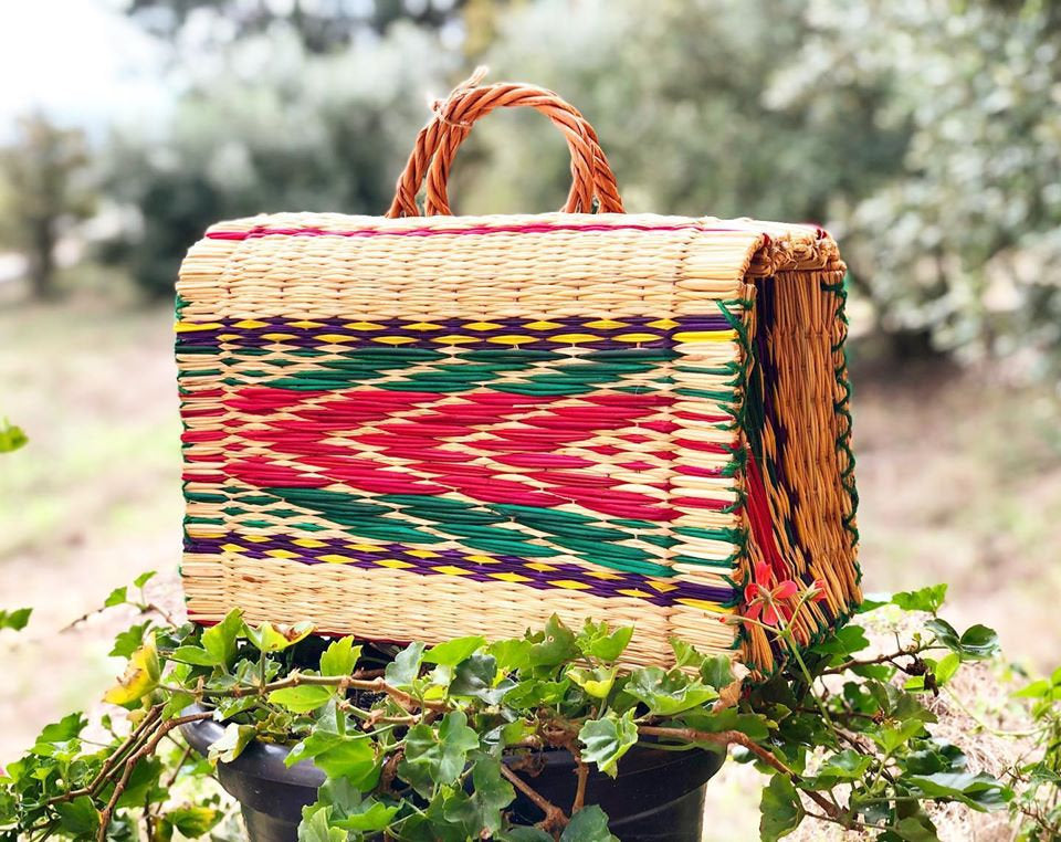Natural Straw Reed Basket Bag 8