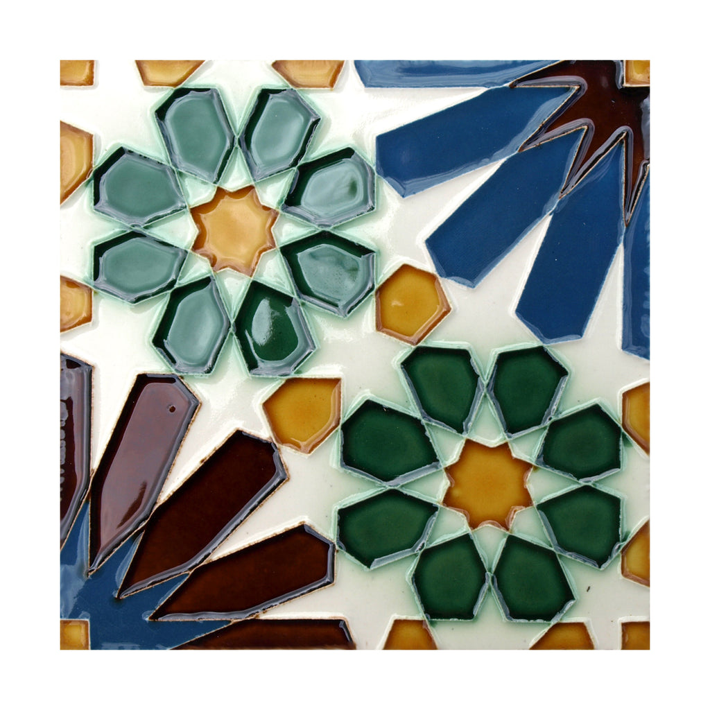 Portuguese Geometric Hispano-Arabe Replica Tiles T23